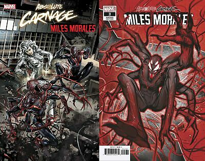 Absolute Carnage Miles Morales #3 2 Variant Lot (Marvel 2019) Connecting Crain