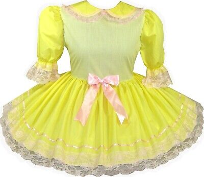 READY 2 WEAR | Yellow PINK HALLOWEEN Costume Adult Baby Sissy Girl Dress LEANNE