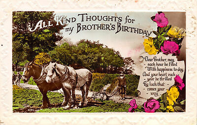R103702 All Kind Thoughts for my Brothers Birthday. Dear Brothers may each hour
