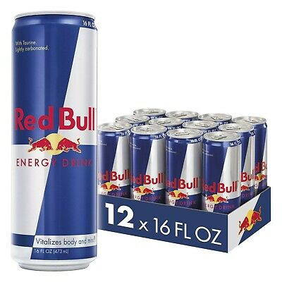 Red Bull Energy Drink, 16 Fl Oz (12 Count), Brand New, Free Shipping