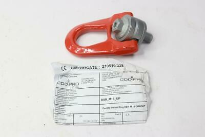 Qty 2 - Double Swivel Ring Bolt DSR M16 Red