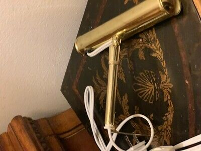 Vintage Adjustable  Small Picture Wall Mount Lamp   Gold Color