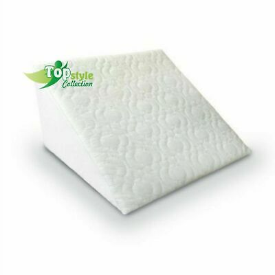 Acid Reflux Flex Foam Support Bed Wedge Pillow With Removable Zip Quilted Cover