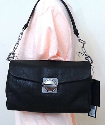 Marc by Marc Jacobs Circle in Square Black Leather Clutch Shoulder bag