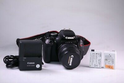 Canon EOS Rebel T3i Camera with EF-S 18-55mm Lens, 2 Batteries and Charger