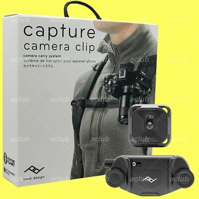 Peak Design Capture V3 Camera Clip with Standard Plate CP-BK-3 (Black)