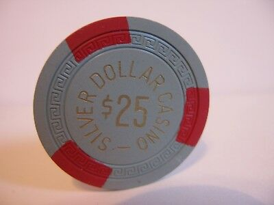 $25 Casino Chip  Silver Dollar Casino  Reno, NV.