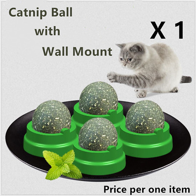 Cat Snack Catnip Ball Lick Solid Nutrition Ball Help Digestion With Wall Mount