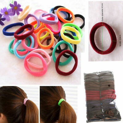 50x Girl Hair Band Ties Elastic Rope Hairband Ponytail Holder Women Hair Ring Sy