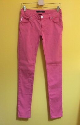 CALVIN KLEIN JEANS Women's Pink Low Rise Skinny Jeans ~Size W28 L33.5 TALL~