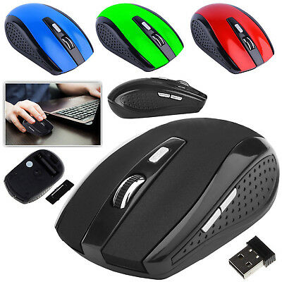 2.4GHz Wireless Cordless Mouse Mice Optical Scroll For PC Computer Laptop + USB