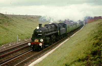 A1 60130 Kestrel going well at New Southgate c1960 with a Pullman Railway Slide