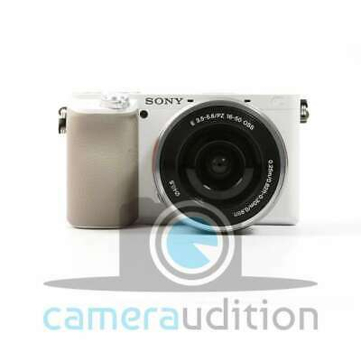 Genuino Sony Alpha a6100 Mirrorless Digital Camera + 16-50mm Lenses (White)
