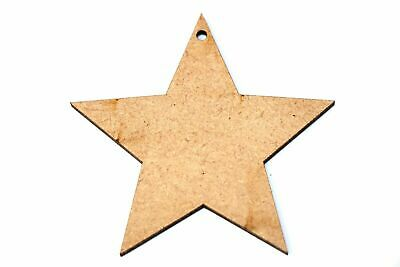 Wooden MDF Christmas Star Bauble Shape Bunting Craft Embellishments Decorations