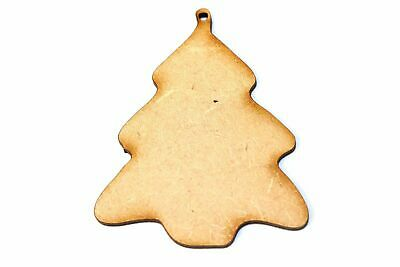 Wooden MDF Christmas Tree Bauble Shape Bunting Craft Embellishments Decorations