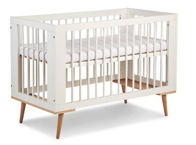 A beautiful cot bed in the Scandinavian style Wooden Crib Baby bed cot WHITE