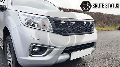 Front Grille for Nissan Navara NP300 2015-19 with DRL LED Matt Black Aftermarket