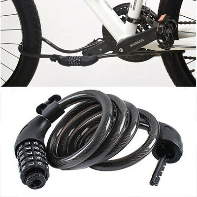Five-digital&Codes Password Bike Safety Anti-theft Steel Wire Cable Bicycle Lock