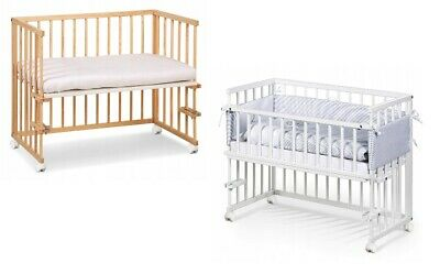 Beside Sleeper Cot Wooden Cot Bed Baby Cot Bed Toddler Bed  Barrier 120x60 cm