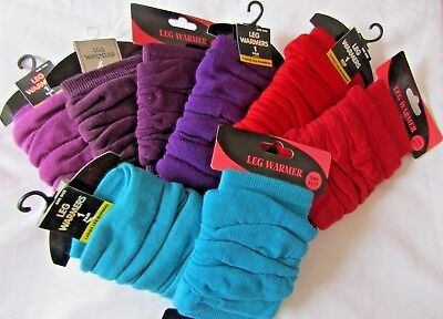 1 Pair W130 Clearance Ladies//Womens Plain Tight Fitted Winter Leg Warmers