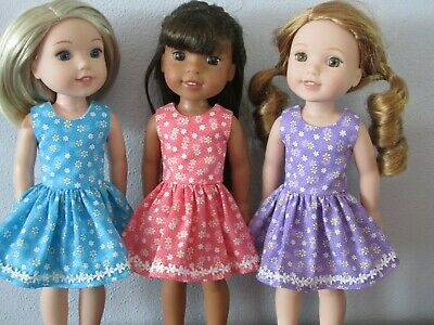"3 Outfits for Wellie Wisher  14""Doll--O101"