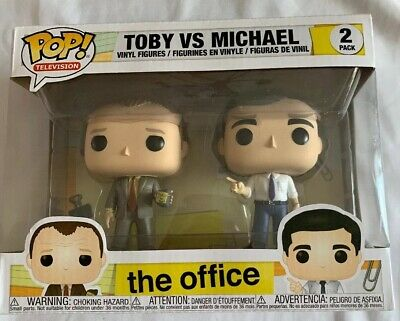 Pop! Funko TV The Office Michael Scott Vs. Toby Flederson 2 Pack Vinyl Figures