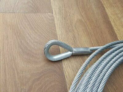 STEEL WIRE ROPE HEAVY DUTY GALVANIZED 16MM DIAMETER WINCH CABLE 41 METRE UK MADE