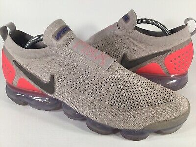 Nike Air Vapormax Flyknit Moc 2 Moon Particle Solar Red Size 11 Rare AH7006-201