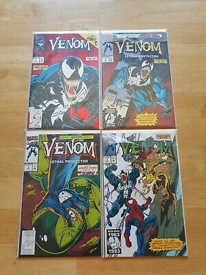 Venom: Lethal Protector Issues 1-4 (Feb-May 1993, Marvel) Comics #1 is foil ed.