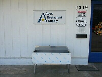 New Advance Tabco CRI-12-48-10 Stainless Underbar Ice Bin with Cold plate #4571