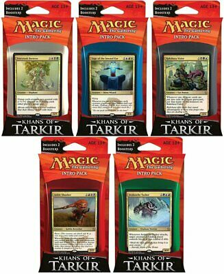 Khans of Tarkir Intro Pack Set of Five (ENGLISH) SEALED BRAND NEW MAGIC ABUGames