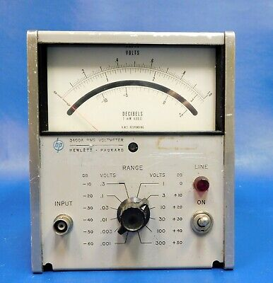 Agilent HP Keysight 3400A Analog Rms Voltmeter Untested