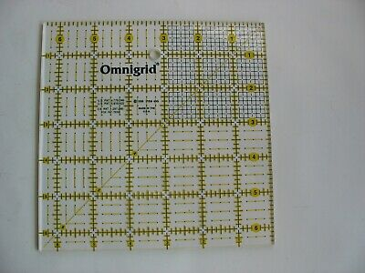 """L/ 2 Omnigrid  6.5"""" Square Rulers for Quilting, Miniatures, Sewing & Crafts"""