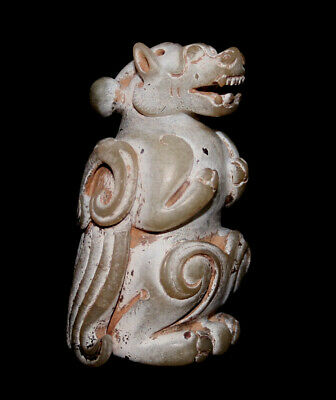 Superb Neolithic Chinese Hongshan Jade figure of a Mother Dragon