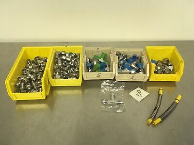 Lot of Swagelok Fittings and Accesories w/Plastic Containers Pre-owned Excellent