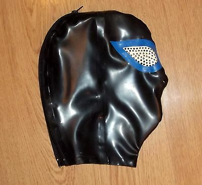 Latex Rubber NEW Design - Rear Zip Pepper Pot Eyes & Nose Holes Small to XL