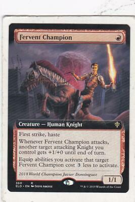 Magic: MTG: Throne of Eldraine: Fervent Champion (Extended Art)
