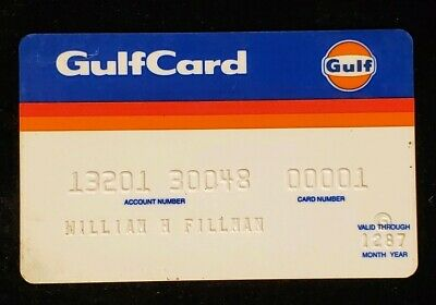 GulfCard Gulf Oil Charge Card♡Free Shipping♡cc85
