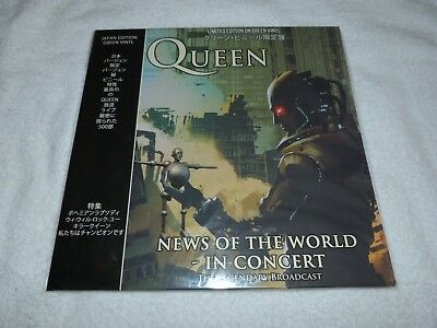 Queen News Of The World LP - In Concert 2018 Coda Import GREEN Colored VINYL