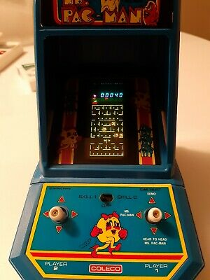 COLECO Ms Pac Man Vintage Electronic Arcade Tabletop Handheld Video Game NICE!!!