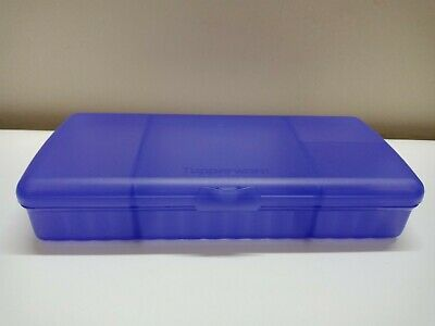 Tupperware Sandwich Keeper Plus Divided Lunch Box Sheer Purple New w/scratches