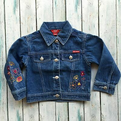 Guess Embroidered Girls Denim Jacket - Size 24M