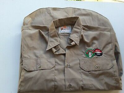 Vintage/Retro KING GEE  OS WORK  SHIRT SOUTHWARK WEST END EMBROIDERY TAGS