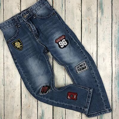 Boys Skinny 'Embroidered Patch' Jeans by Red Tag - Size 4/5