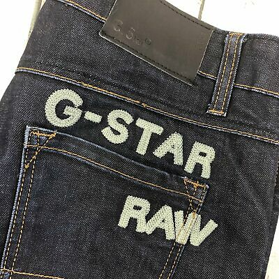 MENS G STAR Raw R3301 W32 L32 Button Fly Embro Straight
