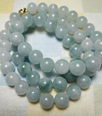 Grade A 100% Natural Genuine Burma Jadeite Jade Beaded Necklace #868 Only 1 Big