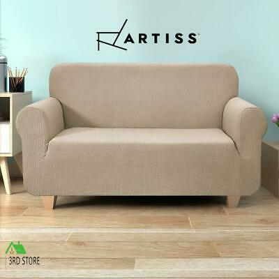 Artiss High Stretch Sofa Cover Couch Lounge Protector Slipcovers 2 Seater Sand