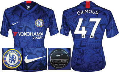 Gilmour 47 - 19/20 Nike Chelsea Home Shirt = Adults