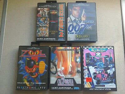 5 x EMPTY BOXES ONLY - For Sega Mega Drive Games (Good Condition)