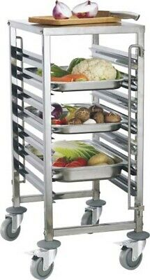 New 6 Tier Gastronorm Trolley Bakery With Work Table Commercial oven stand